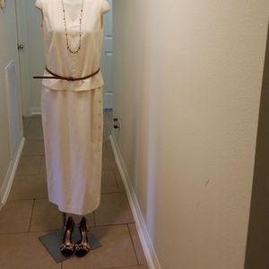 Giants New York Dress/8/ Cream Silk with Linen